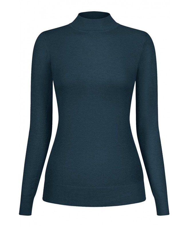 2LUV Womens Blend Stretch Turtleneck