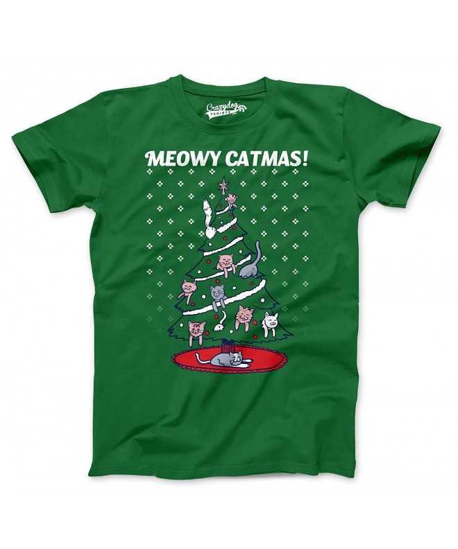 Meowy Christmas Sweater Shirt Green