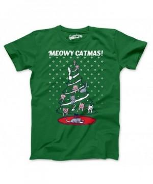 Meowy Christmas Sweater Shirt Green