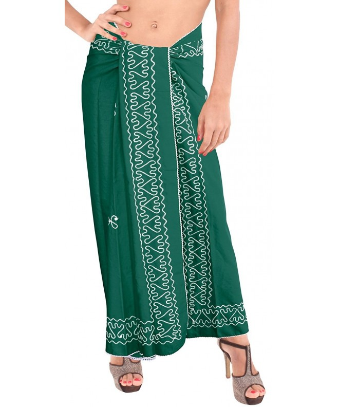 Leela Bathing Sarong Swimsuit Embroidered