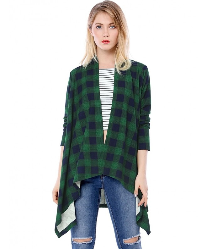 Allegra Womens Handkerchief Plaids Cardigan