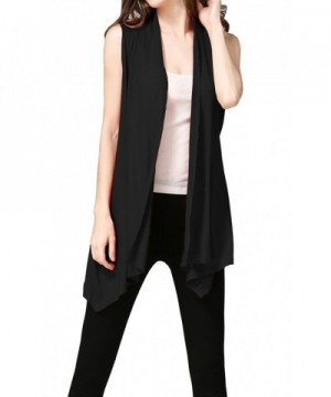 Hibluco Lightweight Sleeveless Cardigan Asymmetrical