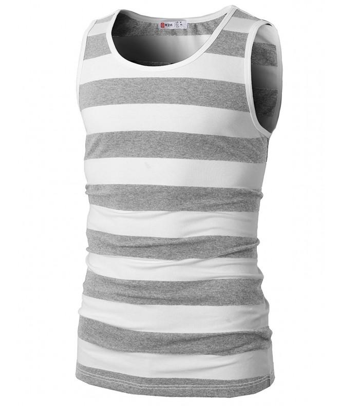 H2H Sleeveless Crewneck Striped CMTTK019