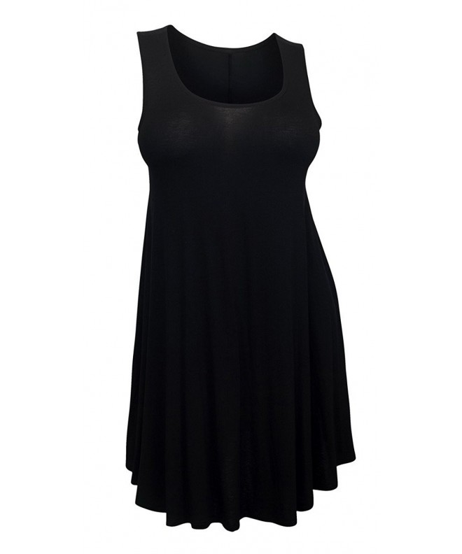 eVogues Plus Sleeveless Dress Black