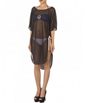 iB iP Crewneck Swimsuit Knee Long Cover Up