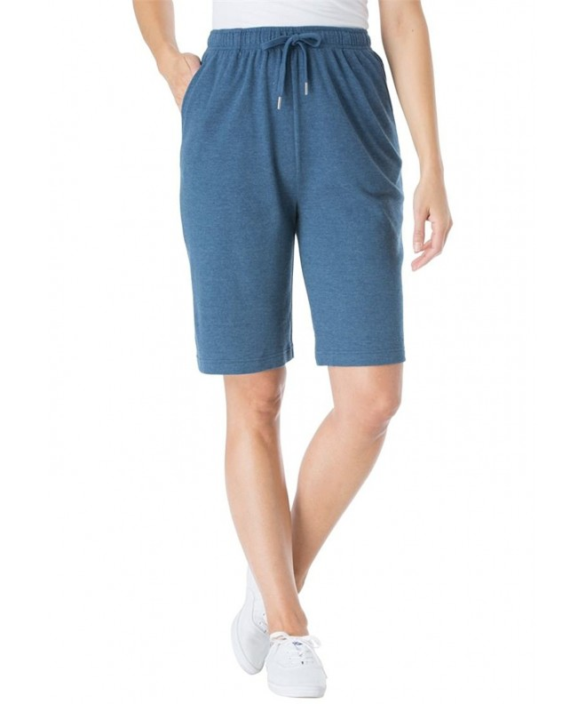 Woman Within Womens Shorts Heather