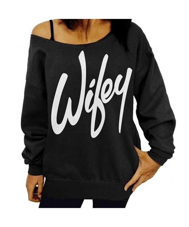lymanchi Shoulder Sweatshirt Slouchy Pullover