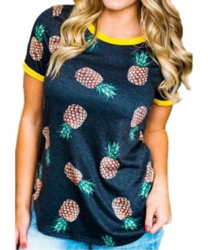 FAYALEQ Womens Pineapple T Shirt Casual