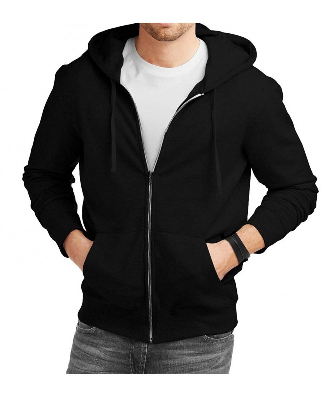 Decrum Black Zipper Hoodie Fleece