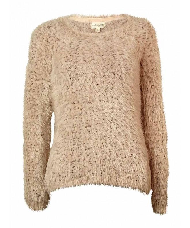 Maison Jules Long sleeve Eyelash knit Sweater