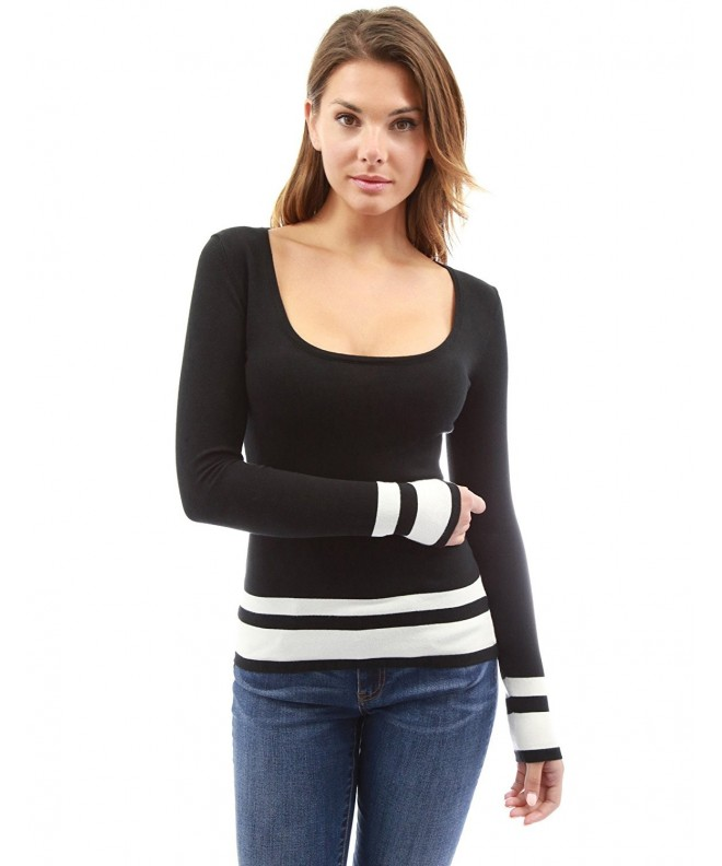 PattyBoutik Scoop Sleeve Sweater Black