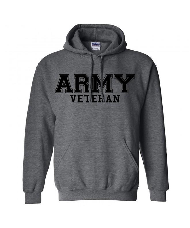 Veteran BLACK Hooded Sweatshirt Heather