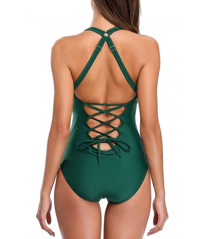 BeautyIn Swimsuit Swimwear Backless Bathing