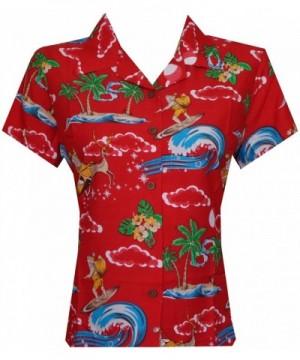 Alvish Hawaiian Womens Christmas Blouse
