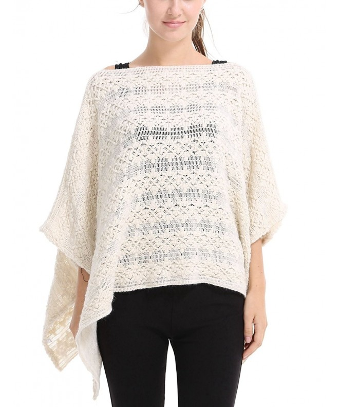 Ferand Casual Batwing Crochet Pullover