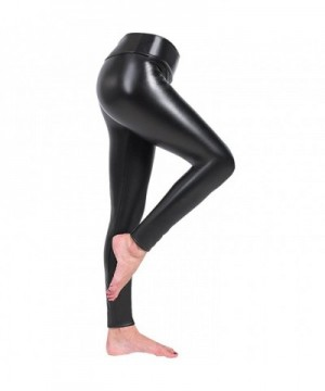 Zuozee Leather Leggings Stretch Elastic