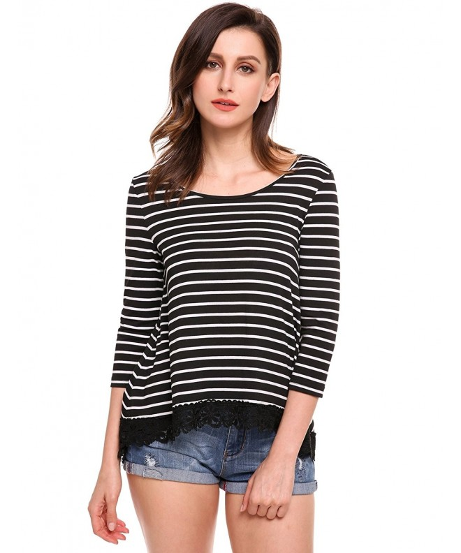 SummerRio Sleeve Striped T Shirt Blouse