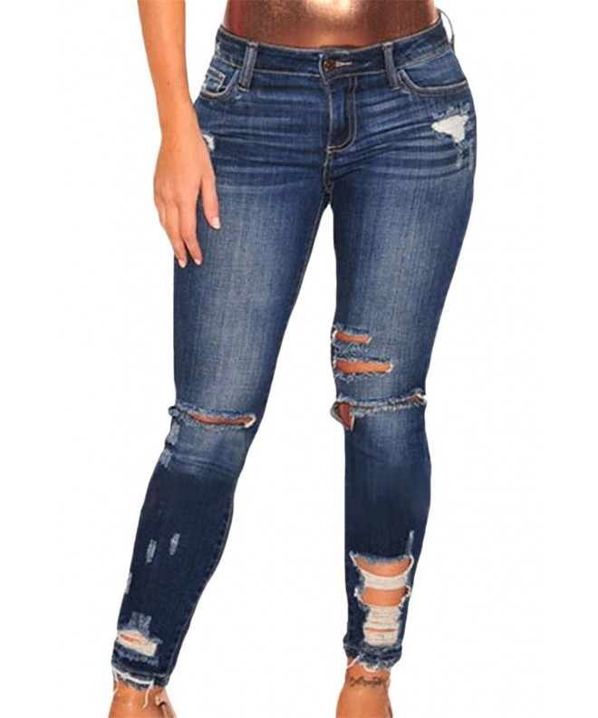 VIGVOG Womens Casual Ripped Distressed