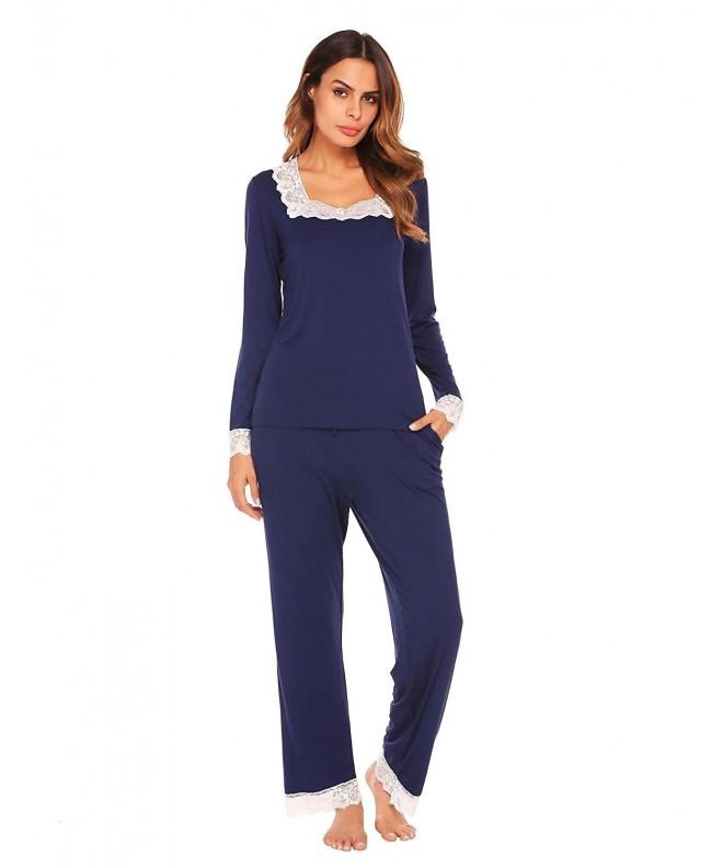 Dicesnow Womens Cotton Sleepwear Pajamas