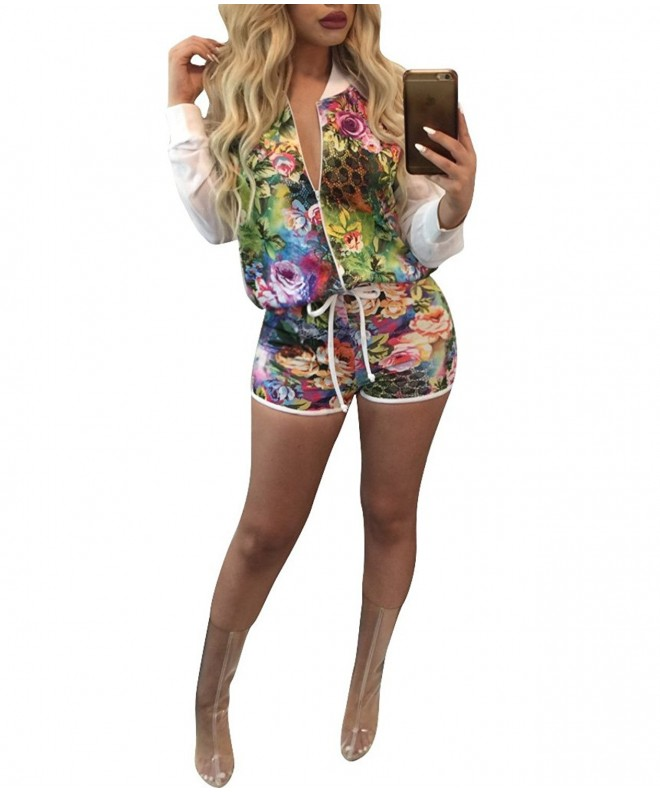 Dreamparis Womens Floral Patchwork Rompers