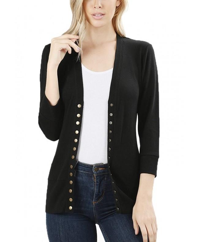 JNTOP Womens Sleeve Cardigan Sweater