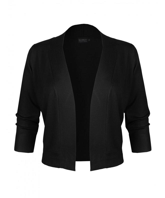 Classic Sleeve Cropped Bolero Cardigan