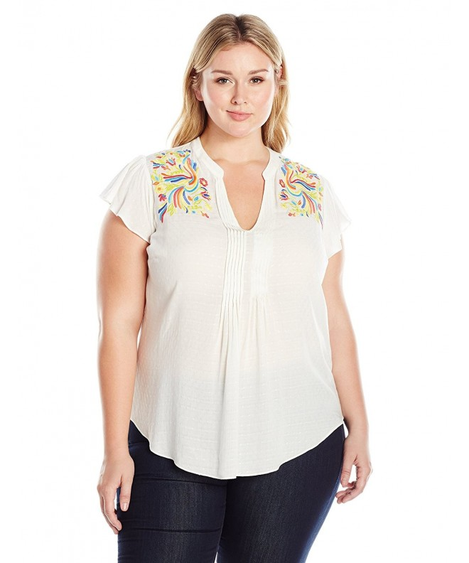 Melissa McCarthy Seven7 Sleeveless Embroidered