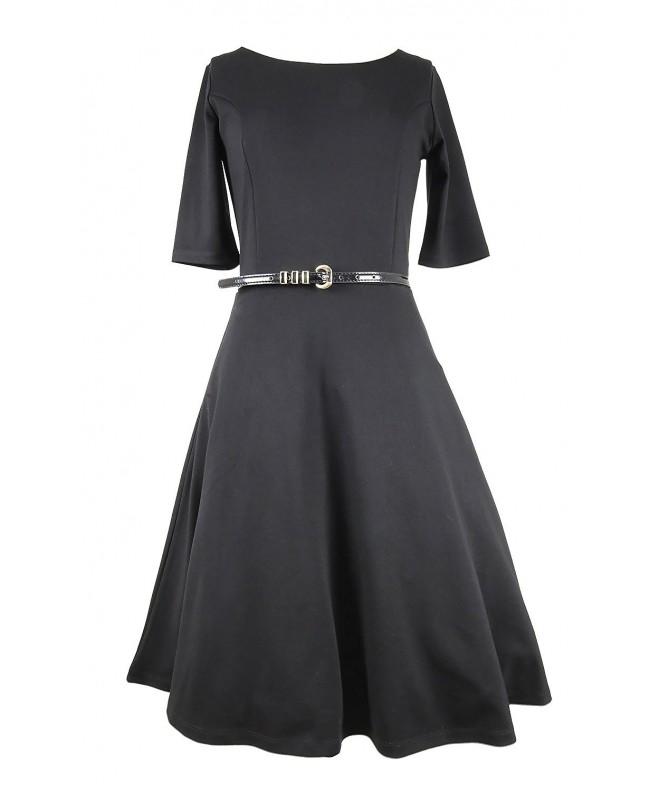 Modeway Womens Elegant Crewneck Dresses