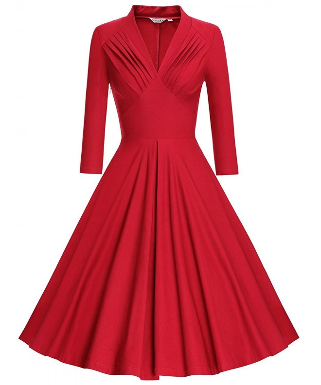 MUXXN Womens Vintage Sleeve Bridesmaid