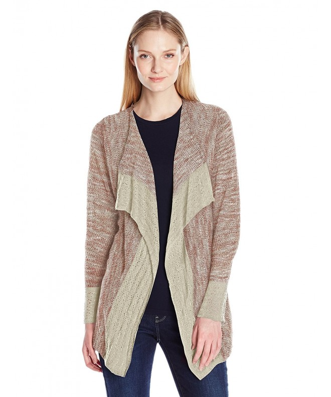 OneWorld Womens Crochet Cardigan Withered