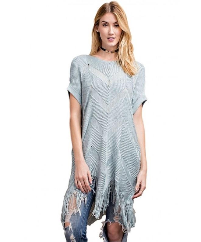 Easel Womens Sleeve Sweater Sharkbite