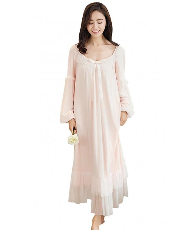 Asherbaby Vintage Nightgown Victorian Sleepwear