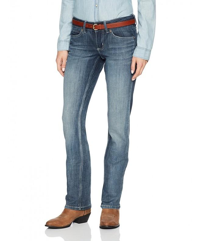 Wrangler Womens Premium Straight Jean Sits