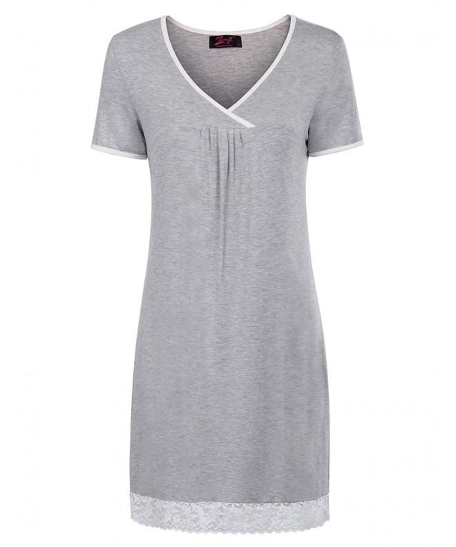 Womens Nightshirts Viscose Sleepwear ZE117 2