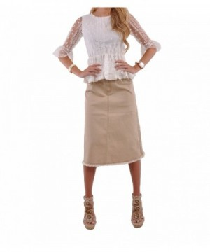 Style Khaki Queen Denim Skirt Khaki 26