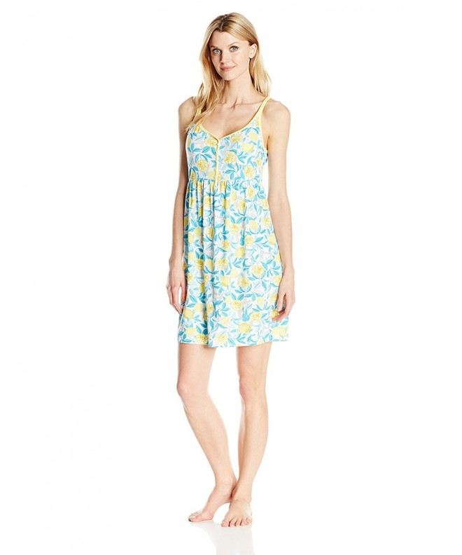 Jockey Womens Printed Chemise Orchard