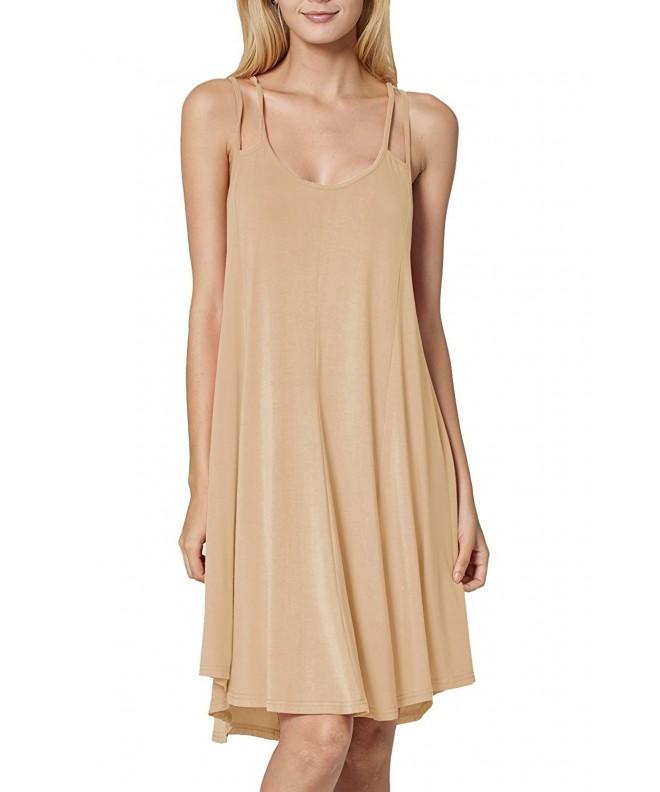 Eomenie Womens sleeveless X Large Apricot