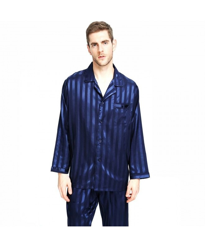 Mens Satin Pajamas Sleepwear Loungewear