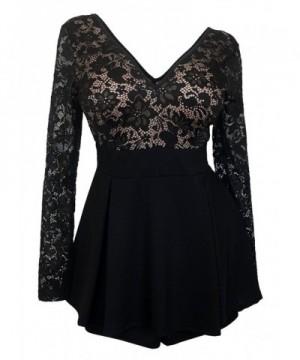 eVogues Overlay Romper Dress Black