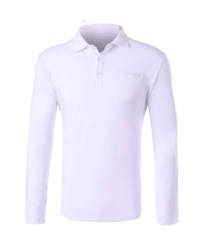 Insenver Cotton Casual Long Sleeve White L