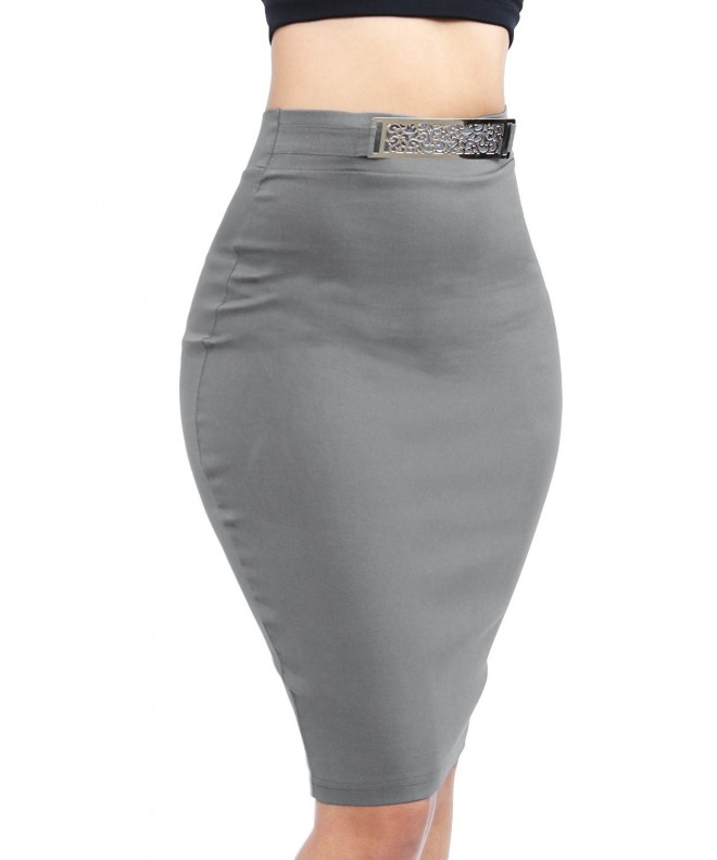 Classic Novelty Stylish Bodycon Grey SWS2160
