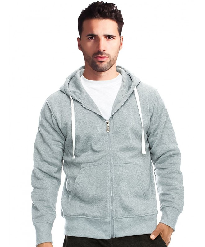 True Rock Mens Basic Hoodie HeatherGray 2XL