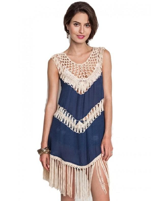 Umgee Womens Crochet Fringe Medium