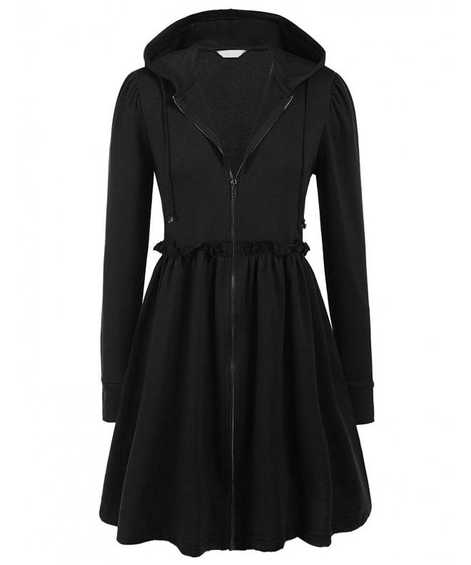 ELESOL Womens Sleeve Hoodie Cardigan