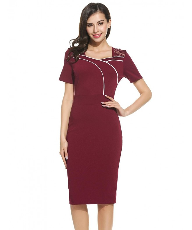 ANGVNS Womens Voguish Colorblock Cocktail