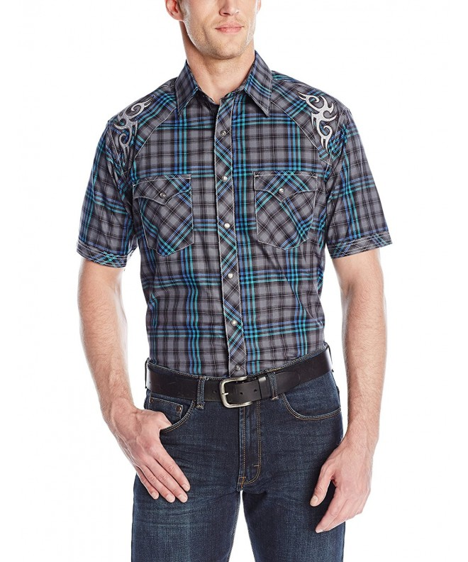 Wrangler Short Sleeve Woven Button