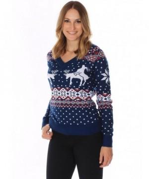 Womens Ugly Christmas Sweater Reindeer