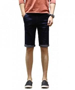 Plaid Plain Denim Shorts Skinny