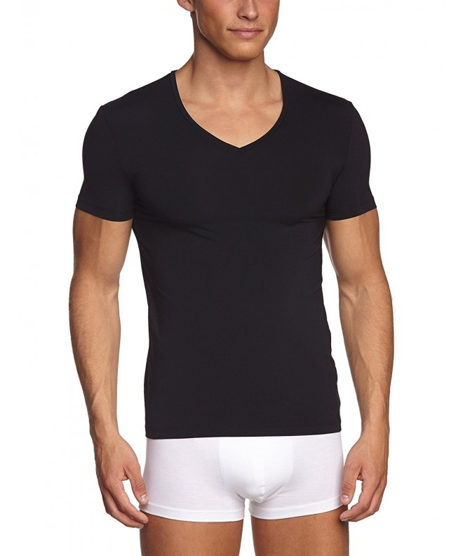 Hanro Micro Sleeve V Neck Medium