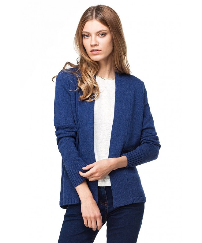 VILATTE Womens Cardigan Sweater Melange